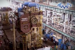 16500吨热锻压机组装过程