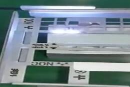 金属激光打标机过程