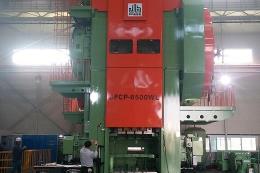 6500吨热模锻压力机运动试验
