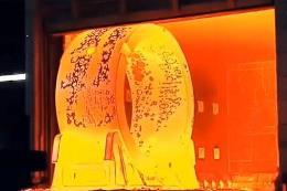334吨重的核反应堆压力容器制造过程