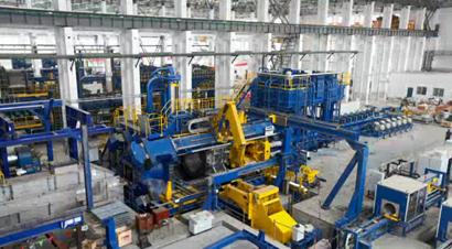 世界最大的铝型材挤压机