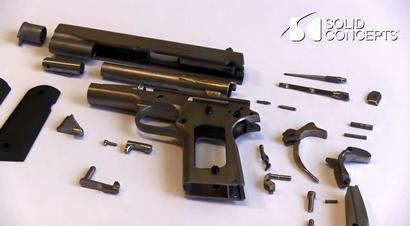 世界首款3D印刷金属枪