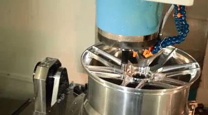 铝制锻造轮毂加工过程