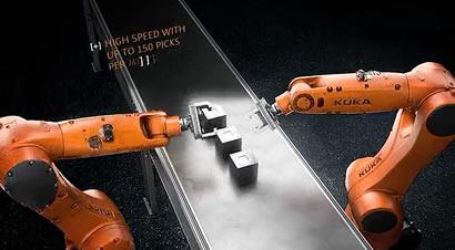 库卡精确度快速度的机器人