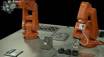 ABB机器人生产雷柏鼠标