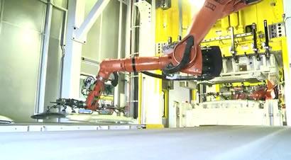 全机器人金属冲压压车间