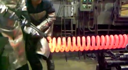 巨型弹簧制造过程
