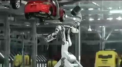 三菱机器人汽车装配工厂
