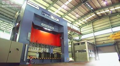 4000kN高速液压压力机生产现场