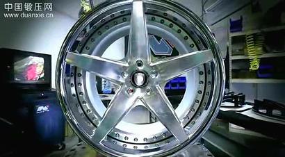 铝合金锻造轮毂精加工过程