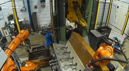 锻造自动上料装置与机器人