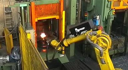热模锻压力机自动化线