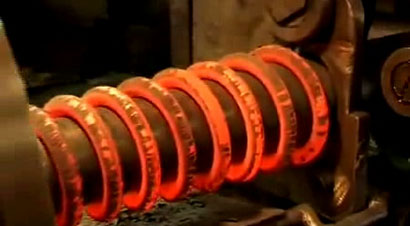 螺旋弹簧生产过程