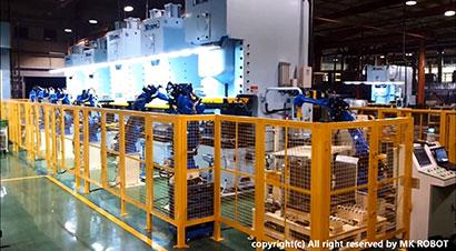 250吨冲压线配机器人