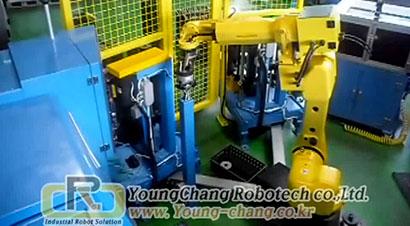 齿轮加工单机器人自动化线