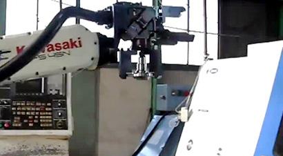 轮毂加工机器人自动化线