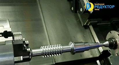 蜗杆轴齿轮数控加工