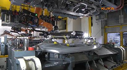 库卡机器人汽车冲压线