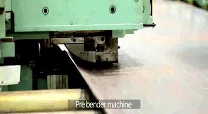 现代工厂折弯线