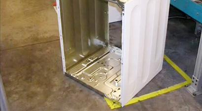 洗衣机侧面板线
